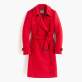 J.Crew Petite icon trench coat in wool cashmere