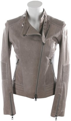 Sly 010 Sly010 Grey Leather Jacket for Women