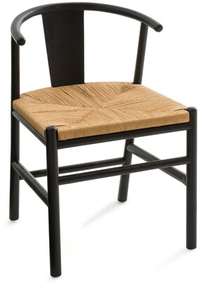 Am.pm. Kirsti Scandi-Style Birch Chair with Woven Seat