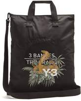Y-3 Snake-embroidered canvas tote bag