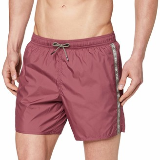 Emporio Armani Men's Boxer Beachwear Logo Tape Swim Trunks