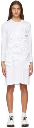 Comme des Garçons Comme des Garçons White Ruffle Long Sleeve Short Dress