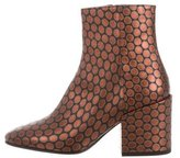 Dries Van Noten Metallic Leather Ankle Boots w/ Tags