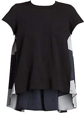 Sacai Women's Baby Doll Cotton T-Shirt