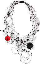 Maria Calderara beaded web necklace