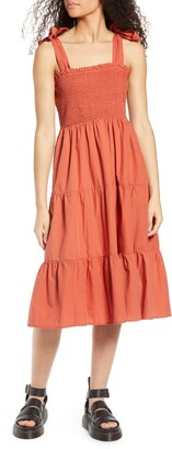 Only Maggie Tie Strap Tiered Sundress