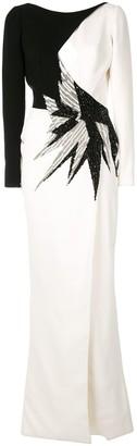 Saiid Kobeisy Beaded Evening Dress
