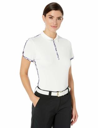 PGA TOUR Women's Short Sleeve Printed Polo Shirt