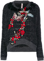 Antonio Marras embellished cable knit sweater - women - Acrylic/Polyamide/Polyester/Virgin Wool - S