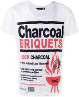 Love Moschino charcoal print T-shirt - men - Cotton - S