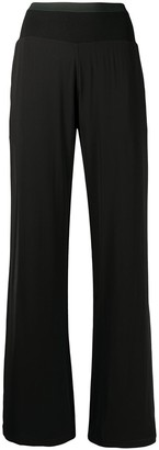 Haider Ackermann flared jersey trousers