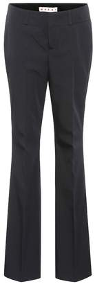 Marni Wool-blend twill trousers