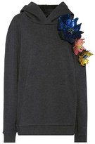 Christopher Kane Embellished cotton hoodie