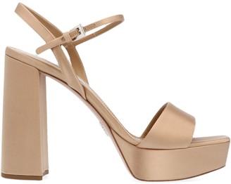 Prada Platform Block Heel Sandals