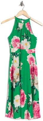 Eliza J Sleeveless Halter Midi Dress