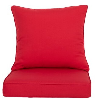 Outdoor Seat/Back Cushion ARTPLAN Fabric: Red
