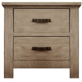 Harriet Bee Maliyah 2 Drawer Nightstand Color: Fossil