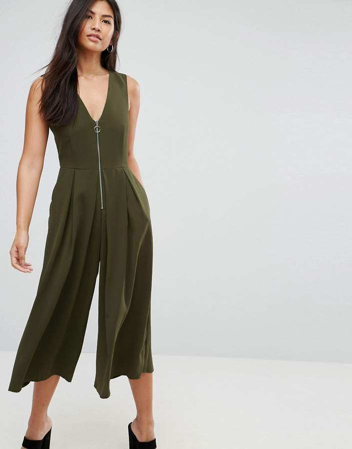 Asos Jumpsuit With Ring Pull Detail