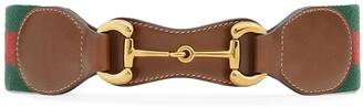 Gucci Horsebit Web belt