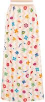 Missoni Pleated Printed Silk-Blend Maxi Skirt