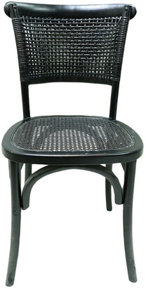 Moe's Home Collection Set Of 2 Churchill Dining Chair Antique Black