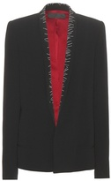 Haider Ackermann Embroidered Crepe Blazer