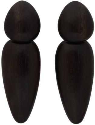 Monies Jewellery Black Sao Paolo Earrings