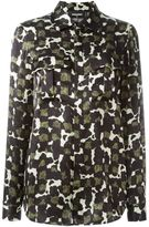 DSQUARED2 long sleeved camouflage shirt - women - Silk - 38