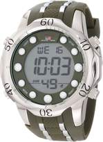 U.S. Polo Assn. Sport Men's US9301 Olive Green Rubber Strap Digital Watch