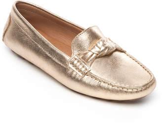 Bernardo Janie Metallic Knotted Ballet Flats