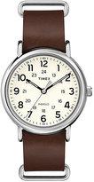 Timex Men's Weekender Brown Leather Strap Watch
