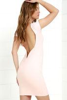 LuLu*s Daring Dame Blush Pink Backless Bodycon Dress