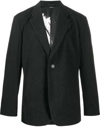 Issey Miyake single-breasted fitted blazer