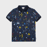 Paul Smith Boys' 2-6 Years Navy Symbol Print 'Melchior' Polo Shirt