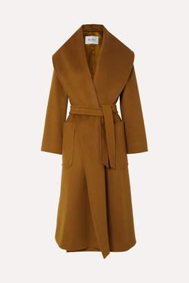 Max Mara Belted Camel Hair Coat - Brown