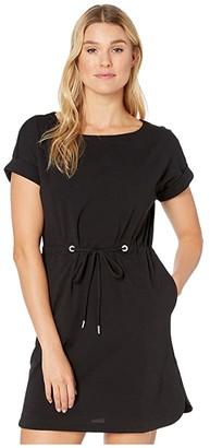 Tommy Bahama Veranda Short Sleeve Dress (Black) Women's Dress