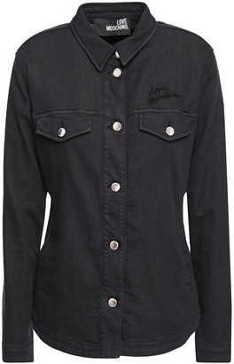 Love Moschino Lace-up French Cotton-blend Terry Shirt