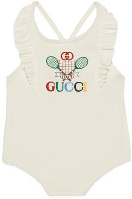Gucci Baby swimsuit with Tennis