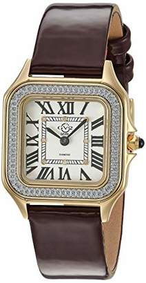 GV2 Women's Milan Gold Tone Swiss Quartz Watch with Patent Leather Strap