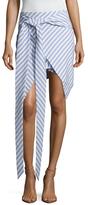 Finders Keepers Better Days Stripe Asymmetrical Skirt