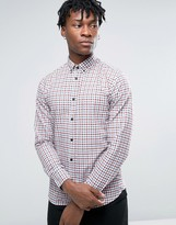 Selected Homme Long Sleeve Slim Fit Shirt In Gingham Check Button Down Collar