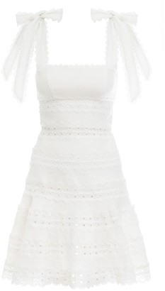 Zimmermann Kirra Tie Shoulder Mini Dress