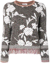 See by Chloé fringed floral jumper