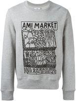 Ami Alexandre Mattiussi market print sweatshirt