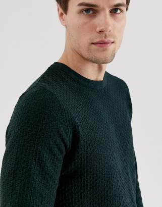 Jack and Jones crew neck knit-Green