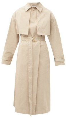 Another Tomorrow - Organic Cotton-blend Trench Coat - Womens - Tan