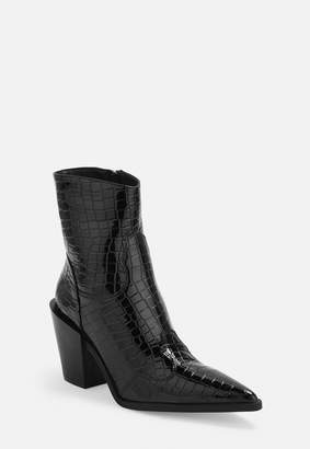 Missguided Black Western Boots