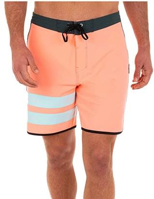 Hurley 18 Phantom Block Party Boardshorts (Atomic Pink) Men's Swimwear