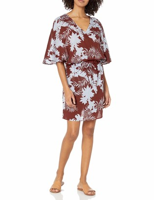 Seafolly Women's Printed Kaftan Swimsuit Cover Up Dress
