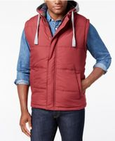 Weatherproof Vintage Men's Hooded Vest, Classic Fit